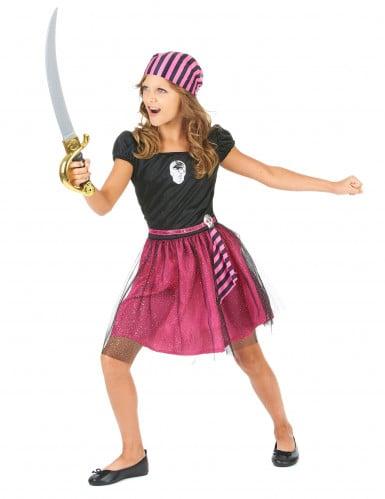 Disfraz de pirata rosa niña-1