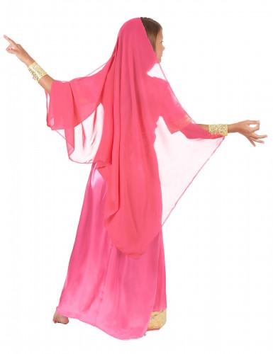 Disfraz de princesa bollywood rosa niña-2