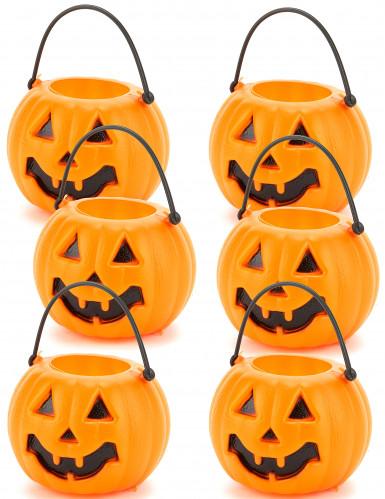Set de 6 calabazas Halloween