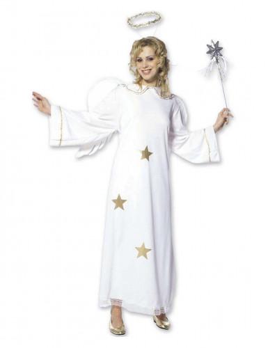 Disfraz de ángel con estrellas mujer