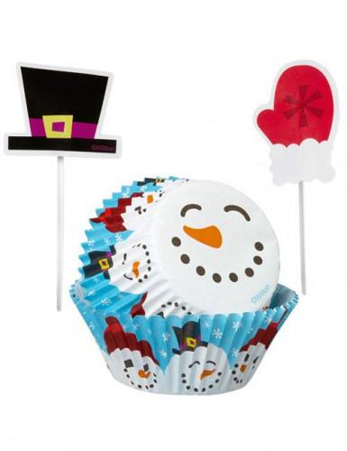 Set moldes cupcakes con palillos para decoración