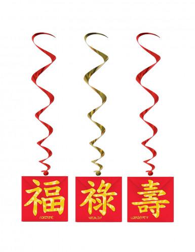 3 Decoraciones colgantes Año Nuevo chino