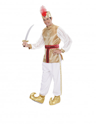 Cubre zapatos dorados de sultán adulto-1