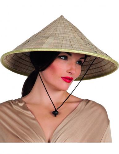 Sombrero chino natural adulto