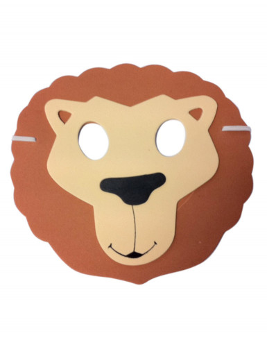 Máscara de león niño a niña