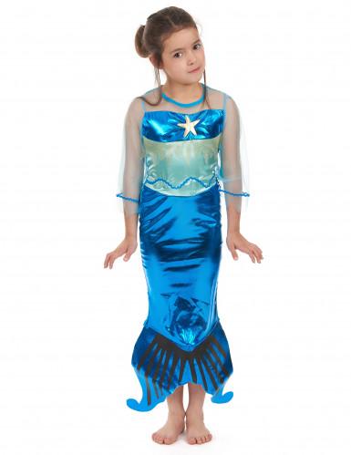 Disfraz sirena de los mares niña