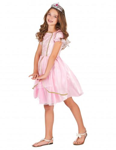 Disfraz princesa rosa y dorado niña-1
