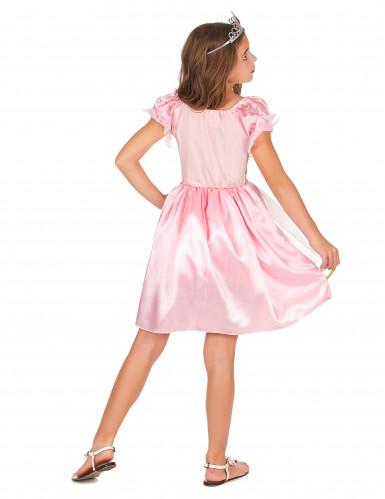 Disfraz princesa rosa y dorado niña-2