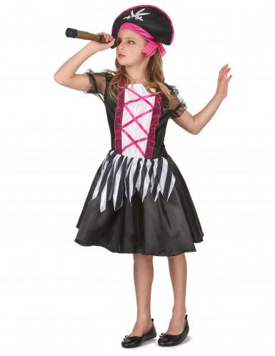 Disfraz pirataniña blanco y negro-1