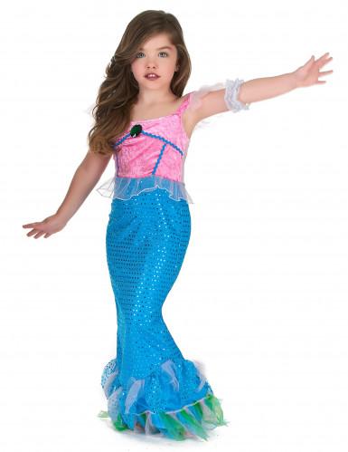 Disfraz sirena niña rosa y azul