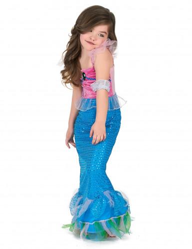 Disfraz sirena niña rosa y azul-1