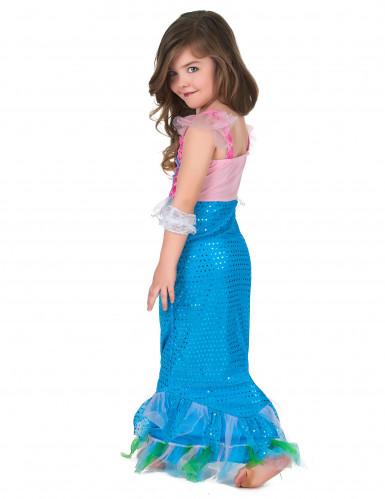 Disfraz sirena niña rosa y azul-2