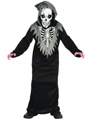 Disfraz de esqueleto segador niño