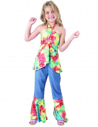 Disfraz de hippie niña