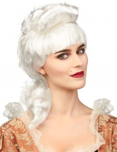 Peluca de noble blanca mujer