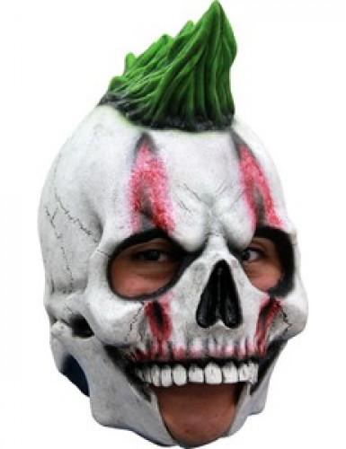 Máscara 3/4 esqueleto punky adulto