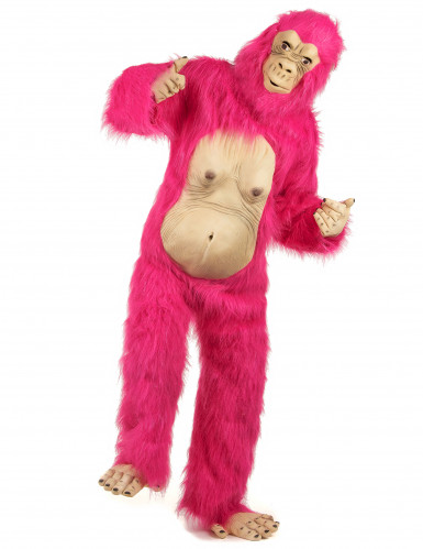 Disfraz gorila rosa adulto