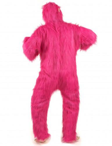 Disfraz gorila rosa adulto-2