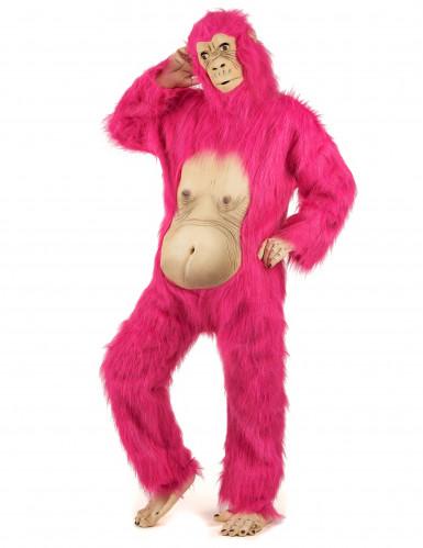 Disfraz gorila rosa adulto-1