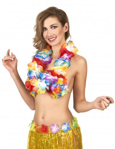 Collar Hawái multicolor de lujo-1