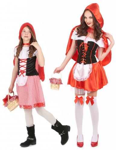 Disfraz de pareja de caperucita roja madre e hija