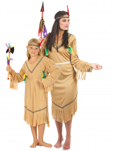 Disfraz de pareja india madre e hija