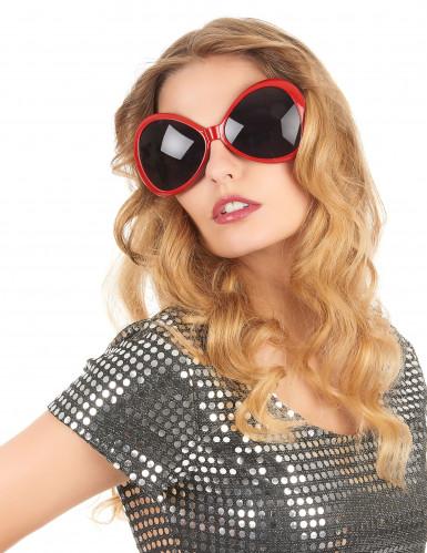 Gafas disco adulto rojas-1