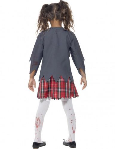 Disfraz de zombi colegial niña Halloween-2