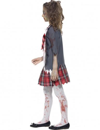 Disfraz de zombi colegial niña Halloween-1