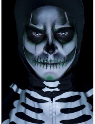 Kit de maquillaje esqueleto fosforescente adulto Halloween-1