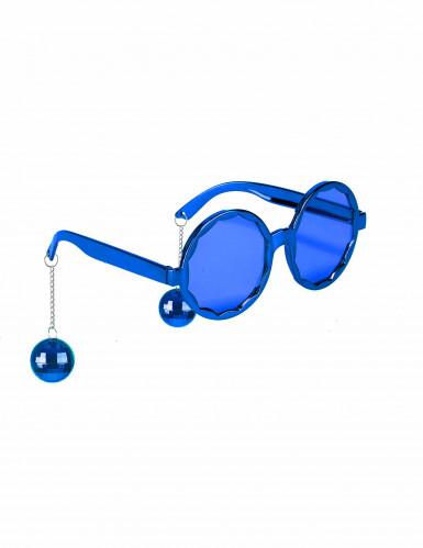 Gafas azules disco adulto