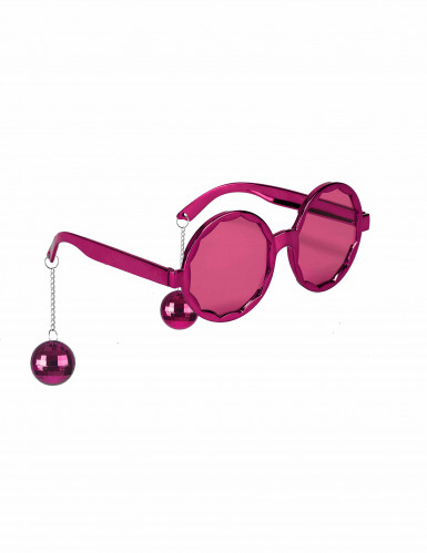 Gafas rosas disco adulto