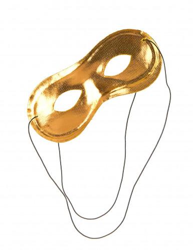 Antifaz metalizado dorado adulto-1