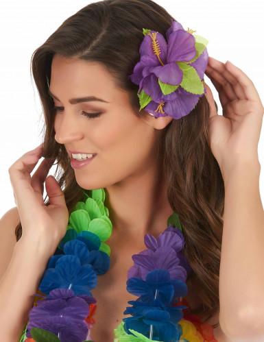 Horquilla flor violeta Hawái-1