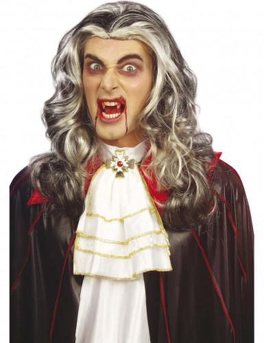 Peluca de vampiro bicolor adulto Halloween
