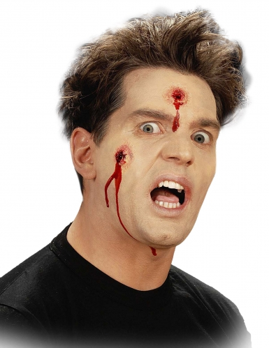 Herida falsa disparos de bala Halloween