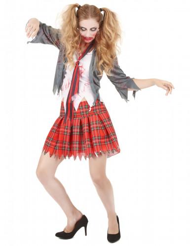 Disfraz de zombie colegiala mujer Halloween