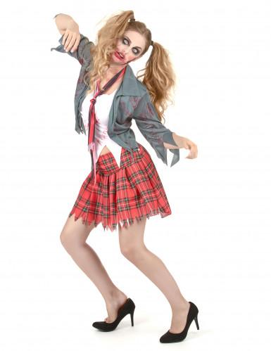 Disfraz de zombie colegiala mujer Halloween-1
