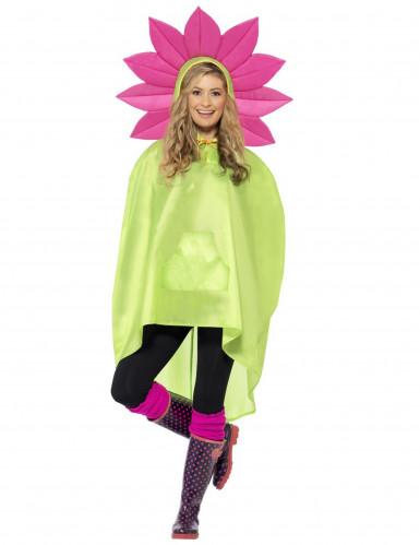 Poncho flor adulto