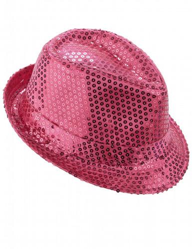 Sombrero brillante rosa fluorescente adulto