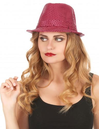 Sombrero brillante rosa fluorescente adulto-1