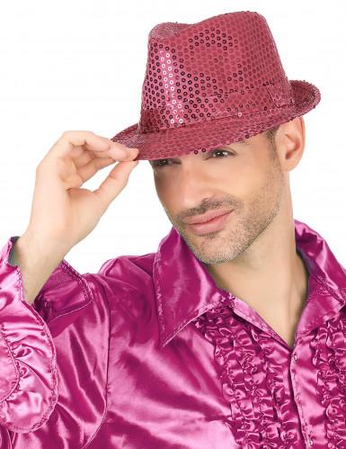 Sombrero brillante rosa fluorescente adulto-2