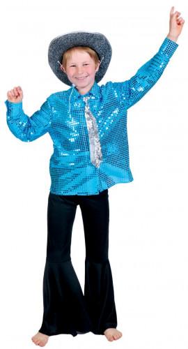 Camisa disco azul niño