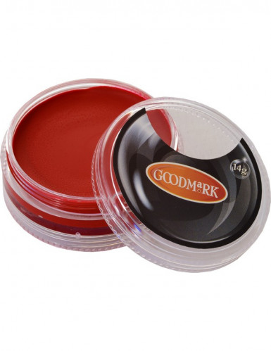 Maquillaje base acuosa rojo