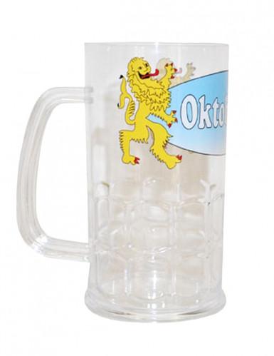 Jarra de cerveza transparente