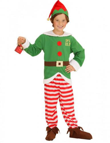 Disfraz elfo rayas niño Navidad