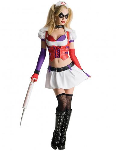 Disfraz Harley Quinn enfermera Arkham City™ mujer