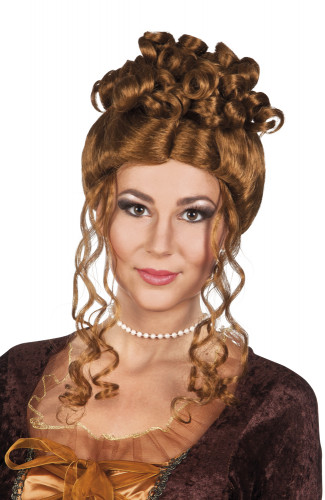 Peluca renacentista marrón mujer