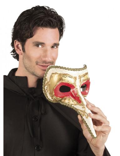 Antifaz veneciano nariz larga hombre
