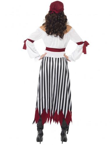 Disfraz de pirata rayas mujer-2